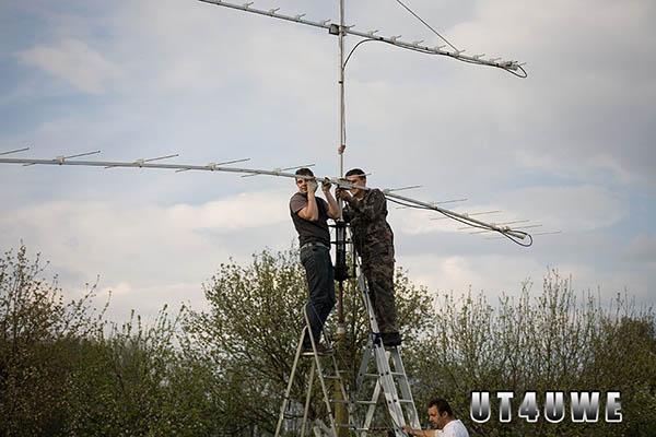 Монтаж антенн